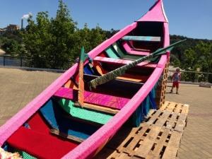 Invirkad båt i Portugal